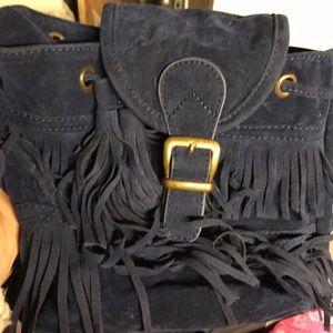 Other - Boho fringe bag/purse. Navy